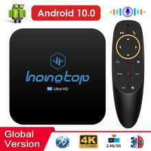 HONGTOP TV Box Android 10,0 4GB 32GB 64GB 4K H.265 Media Player 3D Video 2,4G 5GHz Wifi Bluetooth Android TV Box Android 10