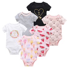 Bodysuit Overalls Pijamas Newborn Bebe Baby-Girl Short-Sleeve Infant Cartoon Summer 12month