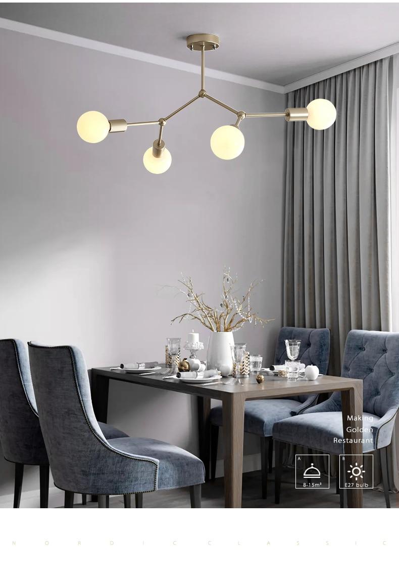 quarto decoração molecular lustres e27 restaurante cozinha