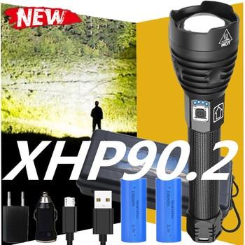 250000 Glare XHP90.2 Most Powerful LED Flashlight 18650 OR 26650 USB Torch XHP70 XHP50 Lantern Hunting Lamp Hand Light
