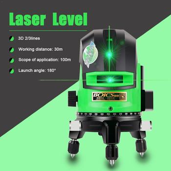 Measuring Green Light Laser Level Class 2 Light Level Infrared Ray Projector Mater Tools Tester 2Lines/ 3 Lines for Choose