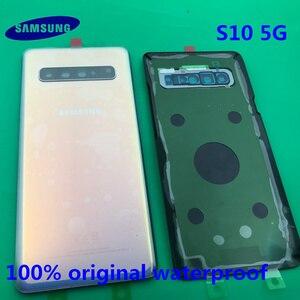 Image 4 - Originele Terug Batterij Cover Samsung Galaxy S10 G977 G977F 5G versie Achter Deur Behuizing Glas Panel Vervanging Deel + GEREEDSCHAP