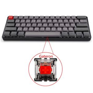 Проводная Механическая клавиатура со светодиодной подсветкой RGB, портативная компактная Водонепроницаемая мини-клавиатура PBT