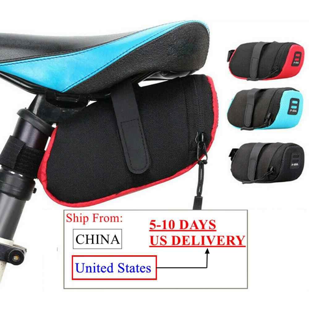 Reflective Bike Saddle Bag Bicycle Tail Rear Seat Cycling Pouch Storage Pannier