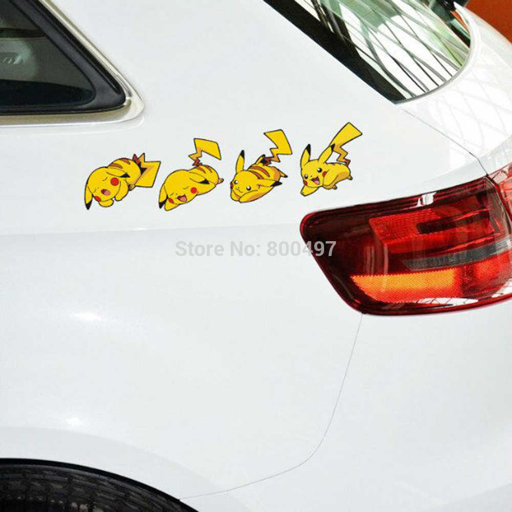 Car Styling Cartoon Animal Pet Pikachu Pokemon Expression Combination Sticker Decals for Toyota Peugeot VW Ford Lada Mazda Honda