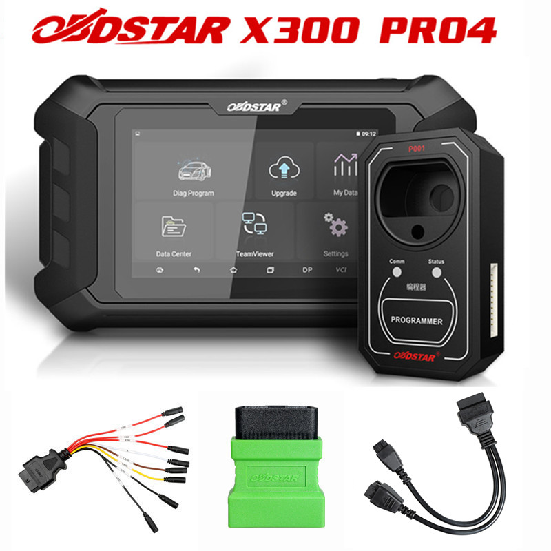 OBDSTAR X300 Pro4 Pro 4 PAD IMMO System mit FCA 12 + 8 Universal Adapter/Multi-funktionale Jumper kabel/für Renault Adapter
