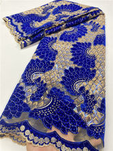 В нигерийском стиле кружевной ткани с камнями сетчатый Африканский