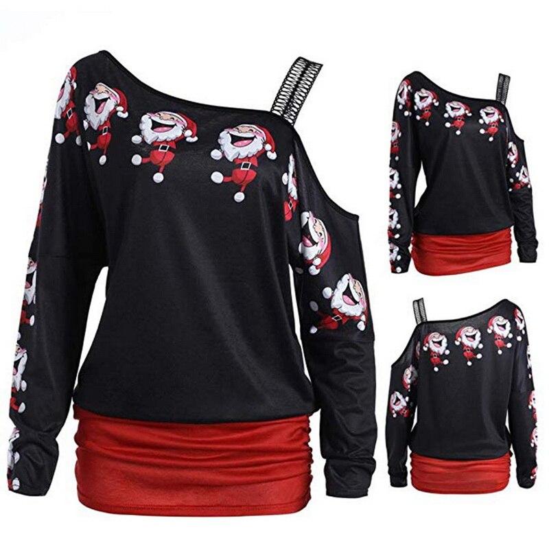 OEAK Autumn Long Sleeve Shirt Women Fashion Woman  2019 Sexy Off Shoulder Top Solid Women T-Shirt Clothing Female