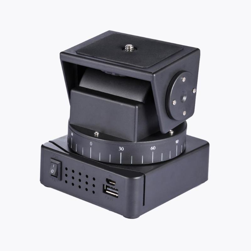 ALLOET YT-260 Elektrische Rotation Panorama Stativ Kopf Motorisierte Pan Tilt Köpfe Mit Fernbedienung Für Telefon GoPro XiaoYi Kamera