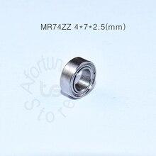 MR74ZZ 4*7*2,5(мм) 10 штук,, подшипник, металлический герметичный Миниатюрный Мини-подшипник, шейкер из хромированной стали, подшипник