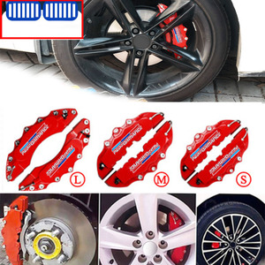 2pcs 3D M Car Disc Brake Caliper Tire Rim Covers For Bmw X1 X3 F25 X5 F15 F20 F30 F10 F11 G01 X4 G02 F26 X2 Z4 X6 M E53 X7 G07