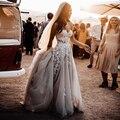 Exquisito Sweetheart Country Style 3D Floral Appliques vestidos de boda Formal una línea vestido de novia Boho para las novias Robe de Mariee