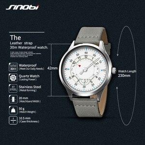Image 5 - Sinobi חדש אופנה שעון Mens שעונים עם נירוסטה למעלה מותג יוקרה ספורט עמיד למים קוורץ שעון גברים Relogio Masculino