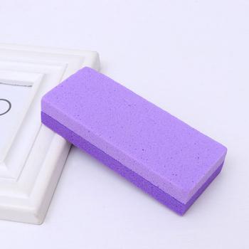 4 sztuk dwustronny Pedicure Foot File pumeks kamień naturalny kamień skrobaczka do pięt pielęgnacja stóp Scrubber dla stóp fioletowy tanie i dobre opinie Other CN (pochodzenie)