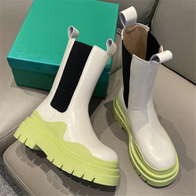ASUMER 2021 Newest Genuine Leather Boots Women Stretch Platform Chelsea Boots Thick Sole Spring Autumn Ankle Boots Female Shoes