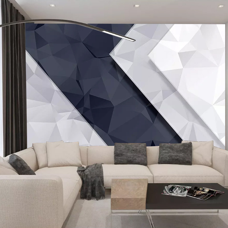 Nordic Abstract Geometry 5D Stereo TV Backdrop Living Room Glorious Wallpaper Modern Minimalist Style Mural