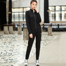 881328969222 Xtep women sports suit 2 piece set 2019 autumn running casual sweater and pants