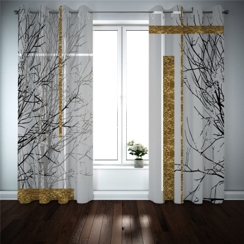 3D photo curtains Branches curtains for bedroom living room home decor curtains Blackout window customize