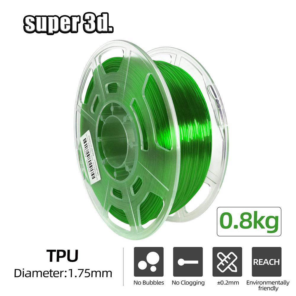 Нить для 3d-печати из ТПУ, гибкая пластиковая нить 0,8 кг для 3D-принтера/3d-ручка 1,75 мм, резиновые материалы для печати, Высокая эластичность