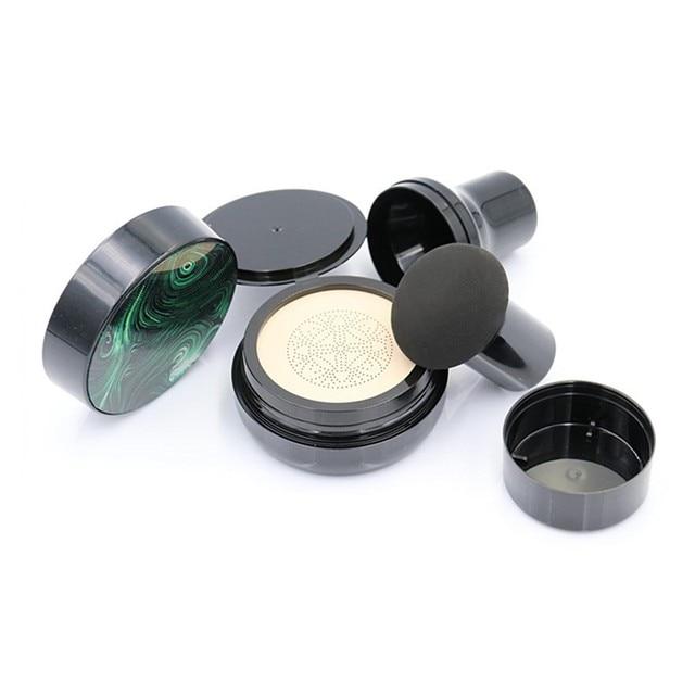 Cabeça de cogumelo selo sopro vazio cc bb creme almofada de ar caso com pó sopro para diy recarga cosméticos recipientes conjunto frasco