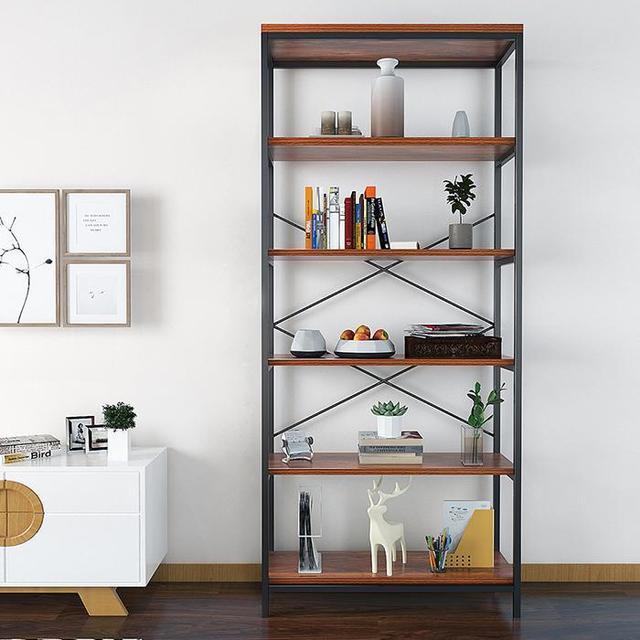 5-tier Wooden Bookcase Bookshelf Storage Organizer Display Home Decor Rack  Furniture Boekenkast 6