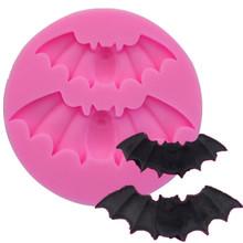 Kitchen DIY Tool Halloween Bat Shaped Silicone Cake Mold  Mould Baking Mold Sugar Craft Fondant Cake Tools Cake Decoration Mold m1073 butterfly shaped fondant cake mold silicone mold lace pattern mould bakeware baking cooking tools sugar cookie decor