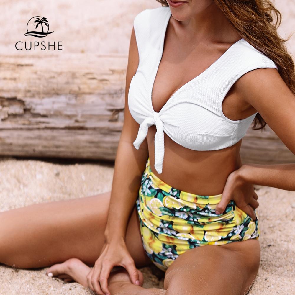 Women Swimsuit Summer Vacation Bathing Suits New Hot Twist Bikini Set Bow Lace