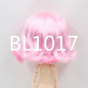 Image 4 - Blyth poupée perruque de poupée glacée seulement rbl cuir chevelu et dôme, cheveux courts ondulés jouet cuir chevelu pour bricolage poupée personnalisée