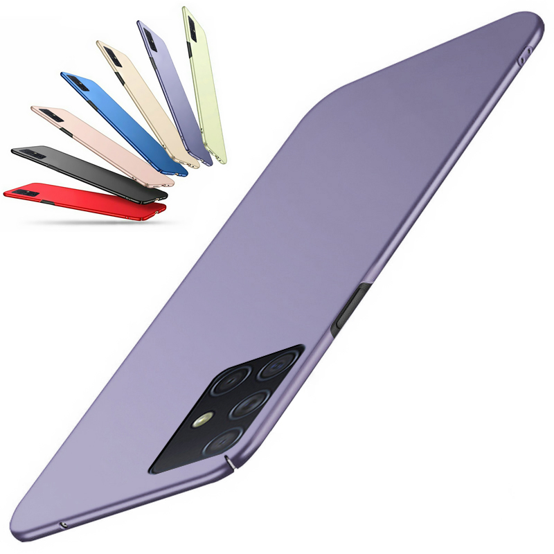 Ultra Slim Frosted Matte Case For Samsung A51 A71 A70 A50 A30 A10 A20 Hard Plastic Cover For Galaxy S20 S10 8 9 Plus Note10 8 9