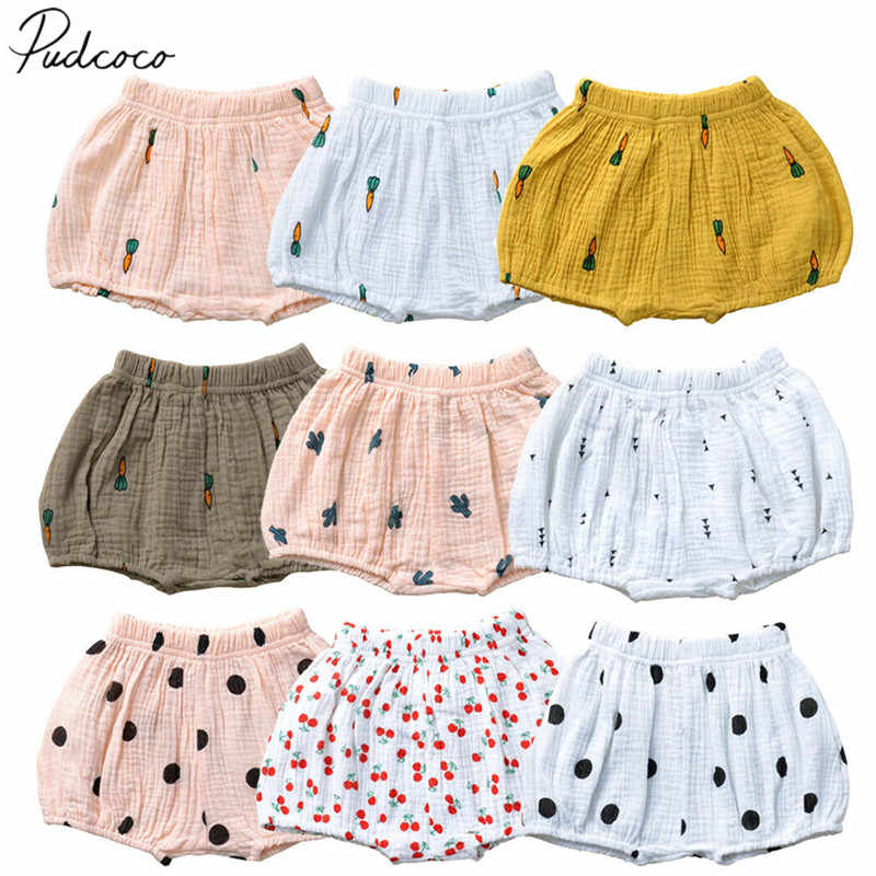 Baby Infant Girl Boy Cotton Linen Bloomer Shorts Pants Bottoms Underwear