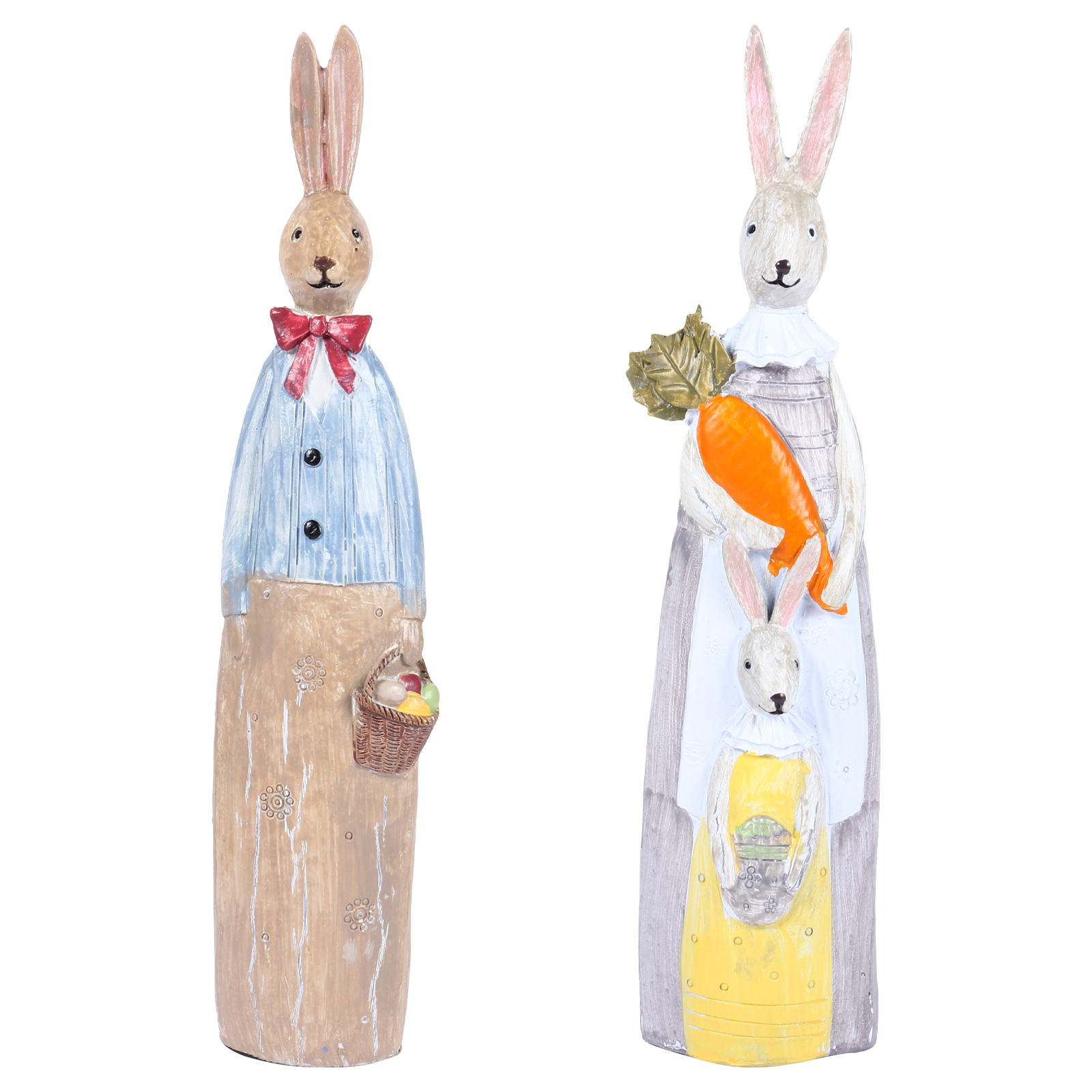 Confident 1 Pair Painted Home Decor Home Decoration Accessories Resin Rabbits Painted Couple Bunny Figurines For Festival Decoration Sale Overall Discount 50-70%