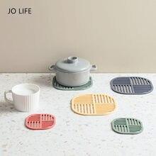 Jo vida espessura resistente ao calor copo coaster estilo nórdico mesa decoração isolamento esteira antiderrapante pote acessórios de cozinha
