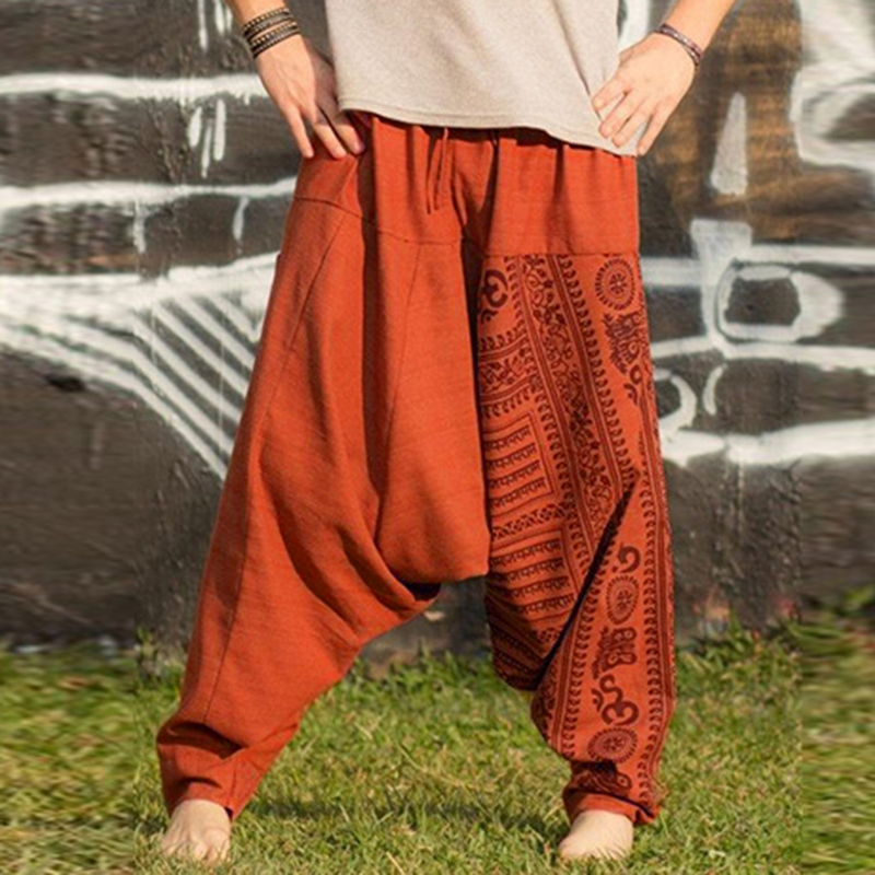 Harem-Pants Waist-Trousers Baggy Summer Boho Elastic Casual New Five-Color M-5XL Hot-Sale