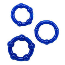 Super Stretchy Silicone 3 different Sizes Cock Rings for Men Condom Extender reusable condoms Male Masturbators Sex Toy(China)