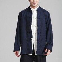 Хлопковая и льняная одежда китайский костюм Мужская двухсторонняя одежда с длинными рукавами 2973-3 в этническом стиле льняной китайский костюм в китайском стиле