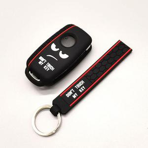Image 5 - New design word Dont Touch My Key For Volkswagen polo passat b5 golf 4 5 6 MK6 Eos Bora Beetle TSI Silicone car key cover case