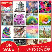 KOTWDQ New Arrivals 5D DIY Diamond Painting Kit Mosaic Pattern Full Round Daimond Painting Home Decorative Paintings(China)