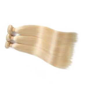 Image 2 - Ali Queen Hair Brazilian Remy Human Hair Weaves Bundles #613/#33/#30/#27/#99J/#BURG Straight Human Hair Extensions Hair Weft