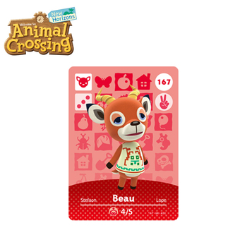 167 Beau Best Animal Crossing New Horizons Funniest Villagers Beau Amiibo Card Animal Crossing Card Series 4 for NS Switch Game цена 2017