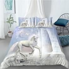 shrine Shrine Bedding Set Unicorn Fantasy Holy Beautiful 3D Duvet Cover Girls King Queen Full Twin Single Double Unique Design Bed Set