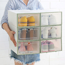 Dustproof Foldable Shoes Storage Boxes Transparent Drawer Bins for High Heels Sports AJ Shoe Stackable Design Home Office