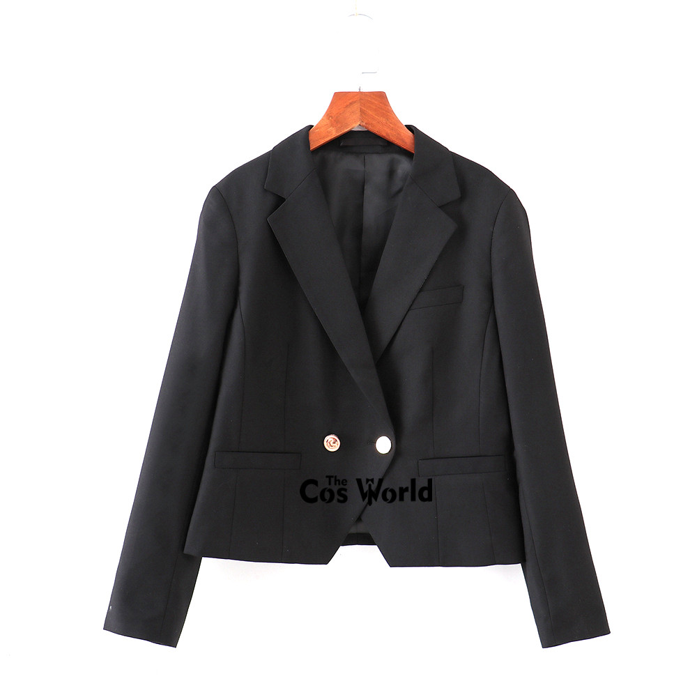 Japanese Womens Girls Spring Autumn Suits Blazer Long Sleeve Jackets Coats Outwear For JK School Uniform