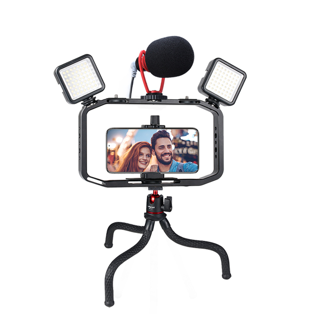 Universal DSLR Gopro Smartphone Handheld Video Rig Vertical Shooting Rig for iPhone XS 11 Pro Max X 8 Gopro 5 6 7 8  DSLR Camera
