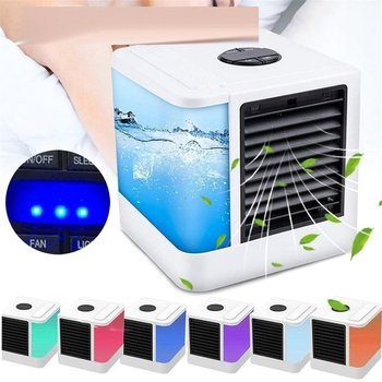 7 Light USB Mini Portable Air Conditioner Air Cooler Fan Desktop Space Cooler Personal Space Air Cooling Fan For Room Home