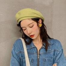 Fashion Beret Cap Female Winter Hats Women Flat Elegant Lady Girl Berets Hat Classic Beanie Slouch Tam