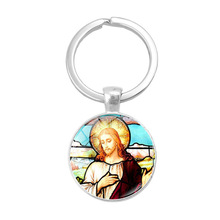Religious Jewelry Bible Verse Glass Cabochon Keychain Jesus God Word Car Key Chain Pendant Keyring Women Men Christian Gifts new fashion pray without ceasing bible verse christian necklace cabochon pendant inspirational jewelry women men faith gifts