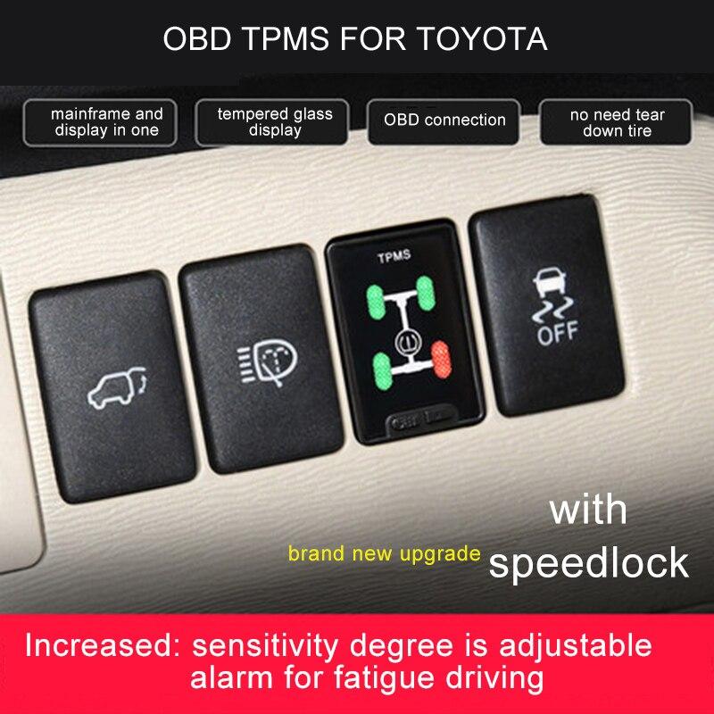 Auto OBD TPMS LCD reifen druck speedlock Für Toyota fortuner/Hilux 2016-2018
