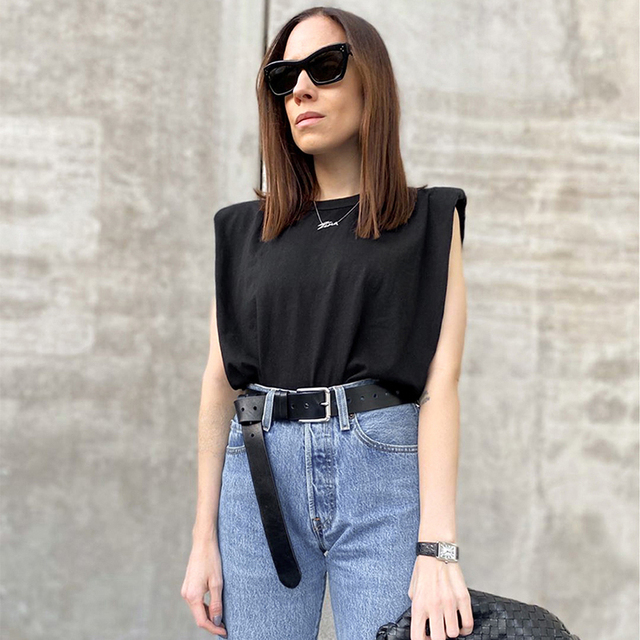 Summer Sleeveless Top Female O Neck White Women Blouse Shirt Ladies Loose solid Chic Casual Blouses Black 2020 Cotton Brown 5