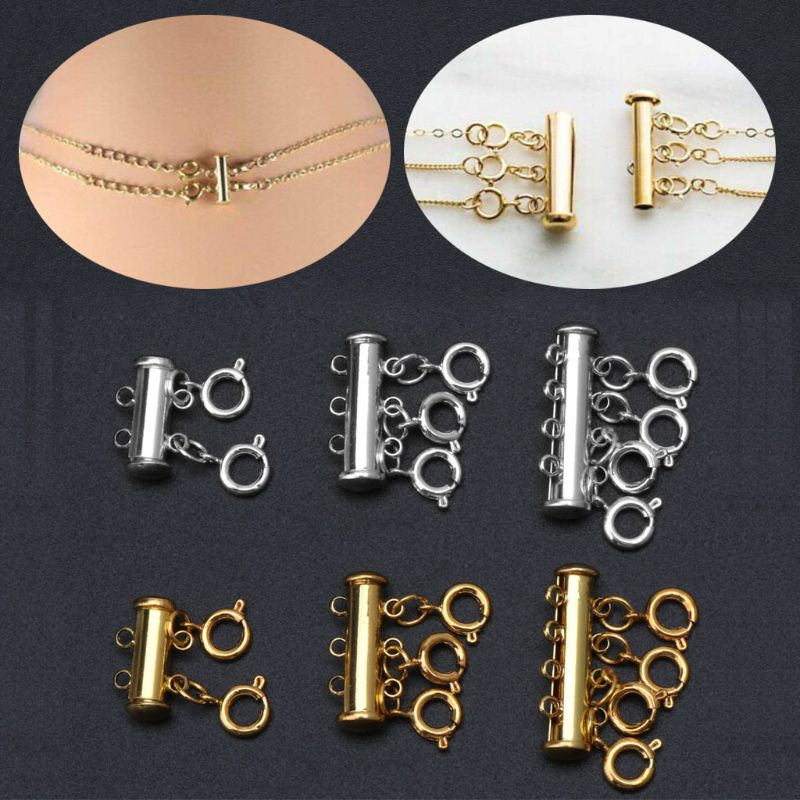 Multi Strand Clasps Lobster Clasp Necklace Magnetic Tube Lock Jewelry Connectors