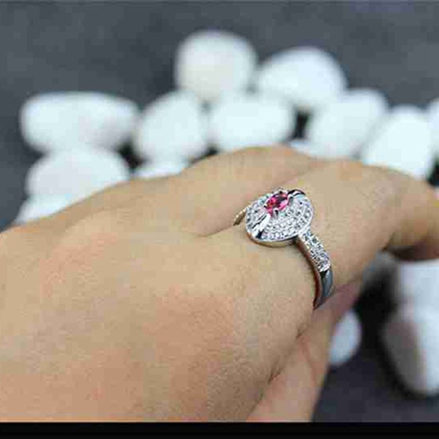 Shunxunze charms best sellers wedding rings jewelry for women dropshipping red cubic zirconia rhodium plated r3124 size 6 7 8 9